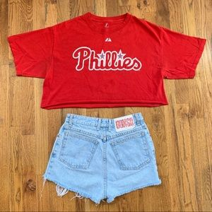 Authentic MLB Phillies Cropped Tee